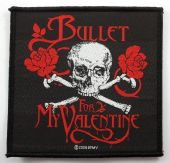 Bullet For My Valentine - 'Skull and Crossbones' Woven Patch